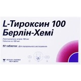 L-ТИРОКСИН 100 БЕРЛИН-ХЕМИ, табл. 100 мкг блистер, №50, Berlin-Chemie (Германия)